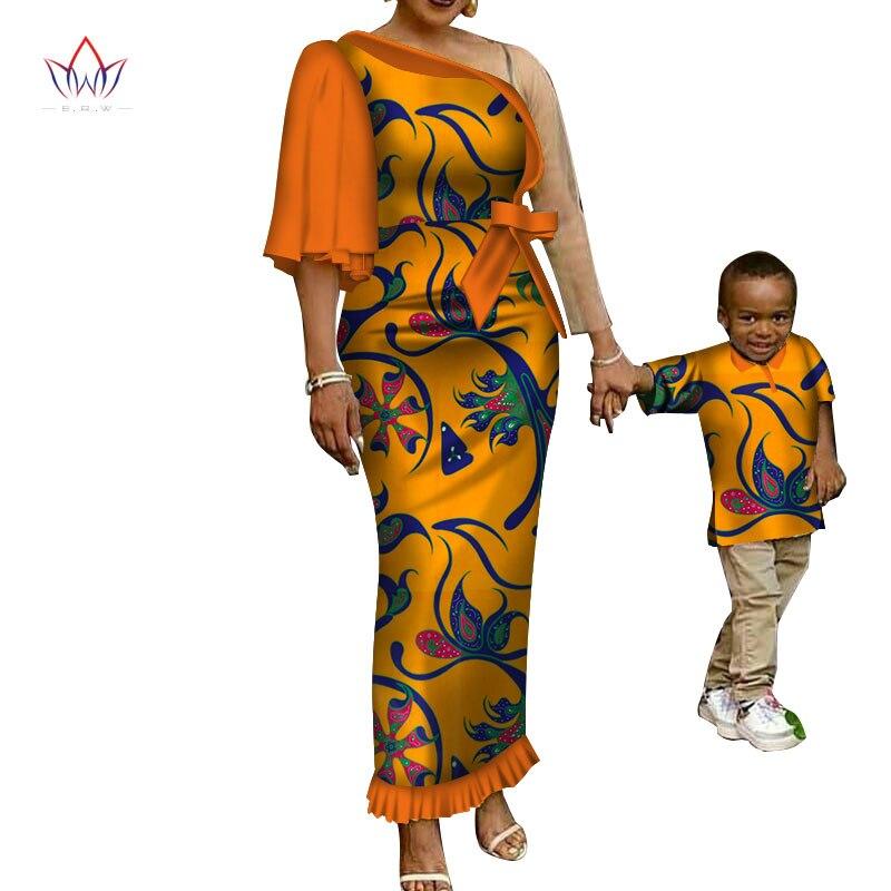 2018 новые весенние Модная Одинаковая одежда для семьи Мать и сын ребенок Семейный компл ...