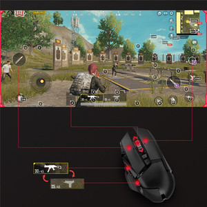 Image 3 - Portable PUBG Mobile Converter Bluetooth 5.0 Controller Keyboard Mouse Converter for iOS Android Gamepad PUBG Accessories
