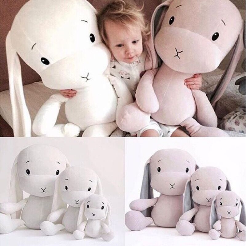 Cute rabbit plush toys Bunny Stuffed&Plush Animal Baby Toy doll baby accompany sleep toy gifts For kids Buy 5 get 1 Pikachu Free image