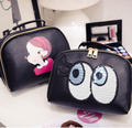 Hot Selling Women Fashion Cosmetic Bags Little Girl Printing Cases Casual Cartoon Kids Makeup Bags Women Travel Bags