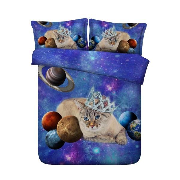 7. cat printed comforter sets