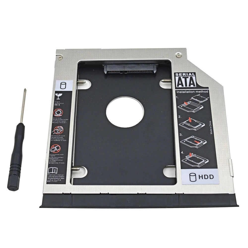 TISHRIC 2nd HDD SSD Sata 9.5 Adattatore Caddy Optibay Custodia Per Dell Inspiron Latitude E6320 E6420 E6520 E6330 E6430 E6530 caso