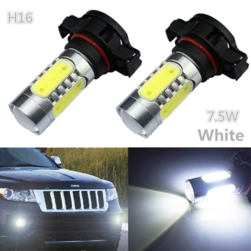 CYAN SOIL BAY 2pcs HID White H16 5202 4 COB LED Projector Bulbs For Fog Lamp Daytime Light