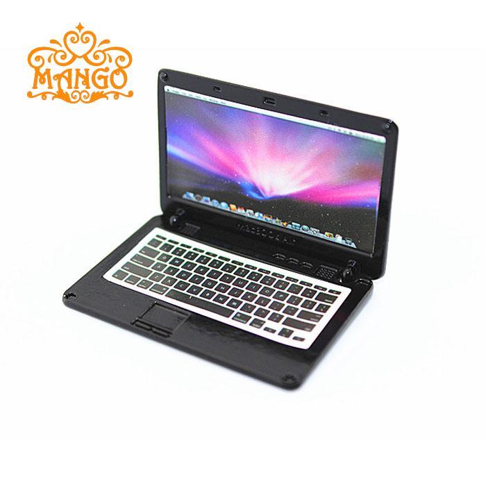 ộ ộ 1 12 accessories miniature dollhouse laptop computer apple