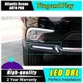 AUTO PRO para o Estilo Do Carro Toyota Highlander LED DRL luzes de estacionamento para a Toyota Highlander tampa levou nevoeiro luz de circulação diurna luz