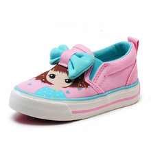 2017 New Children Shoes With Bow Girls Canvas Shoes Denim Baby Infant Princess Shoes Kids Breathable Kids Fashion Sneakers
