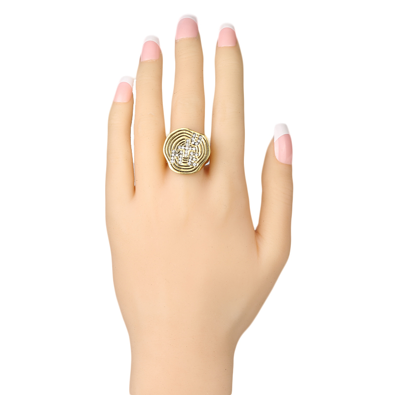 U And Me Fashion Rings For Women 2017 White Crystal Gold His And Hers Promise Ring Sets