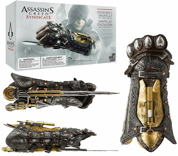 ФОТО Assassin's Creed Cosplay Weapons Syndicate Gauntlet with Hidden Blade Avec Lame Secrete  Action Figure Model Toy 40cm KT1857