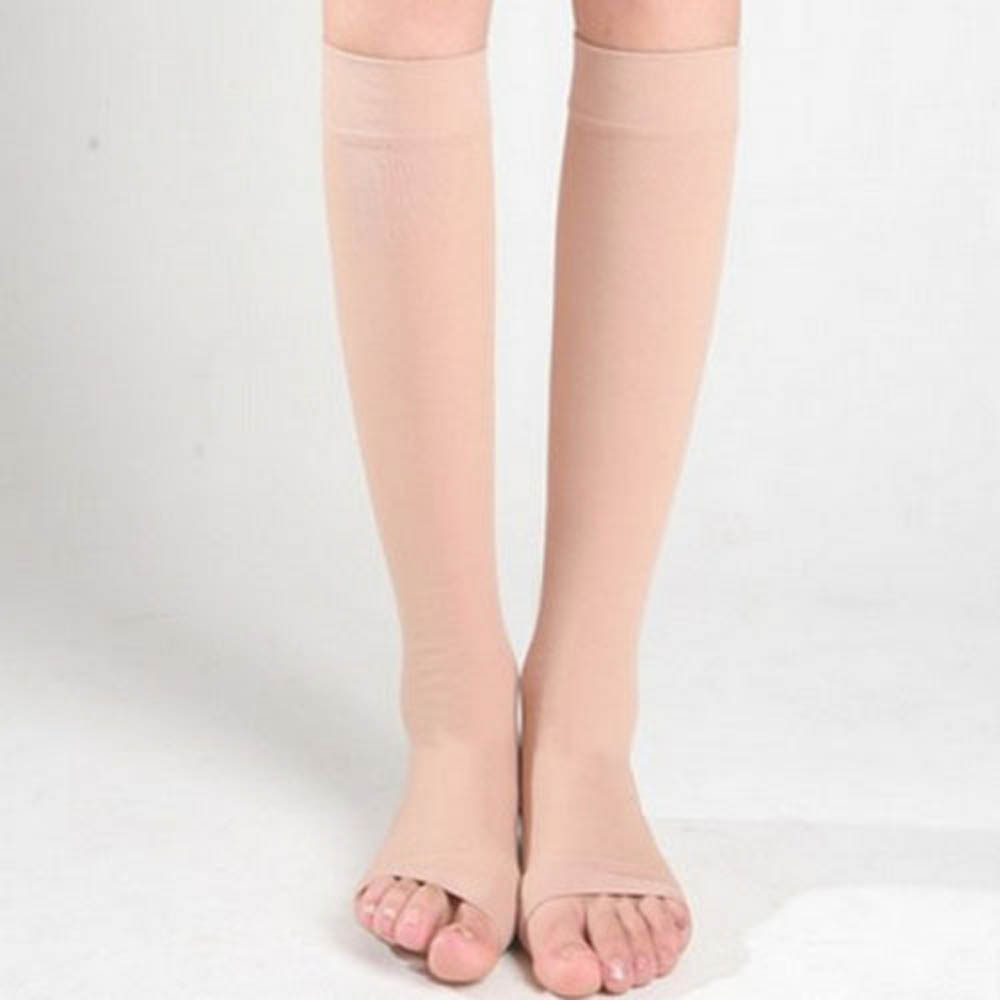 Fashion 1pair Zip Compression Socks Zipper Leg Support Knee Stockings Open Toe Thin Anti-fatigue Unisex Below Knee Socks Hot Wide Varieties Men's Socks
