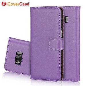 Image 4 - Etui portefeuille en cuir pour Samsung Galaxy S8 Etui Funda Coque de luxe Capa Coque arrière pour Samsung S8 Plus étuis de téléphone avec fente pour carte