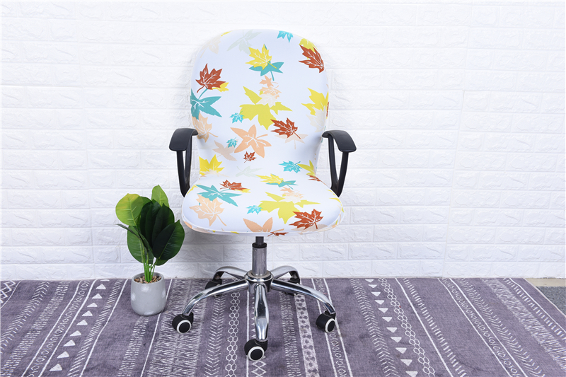 Elasticity Office Computer Chair Cover Side Arm Chair Cover Recouvre Chaise Stretch Rotating Lift Chair Cover Without Chair (29)