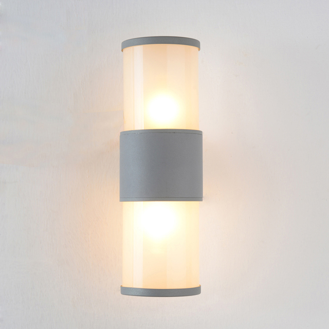 Modern Outdoor Wall Light Waterproof IP54 Porch Aluminum Wall Lamp For  Garden Decoration Up Down Sconce