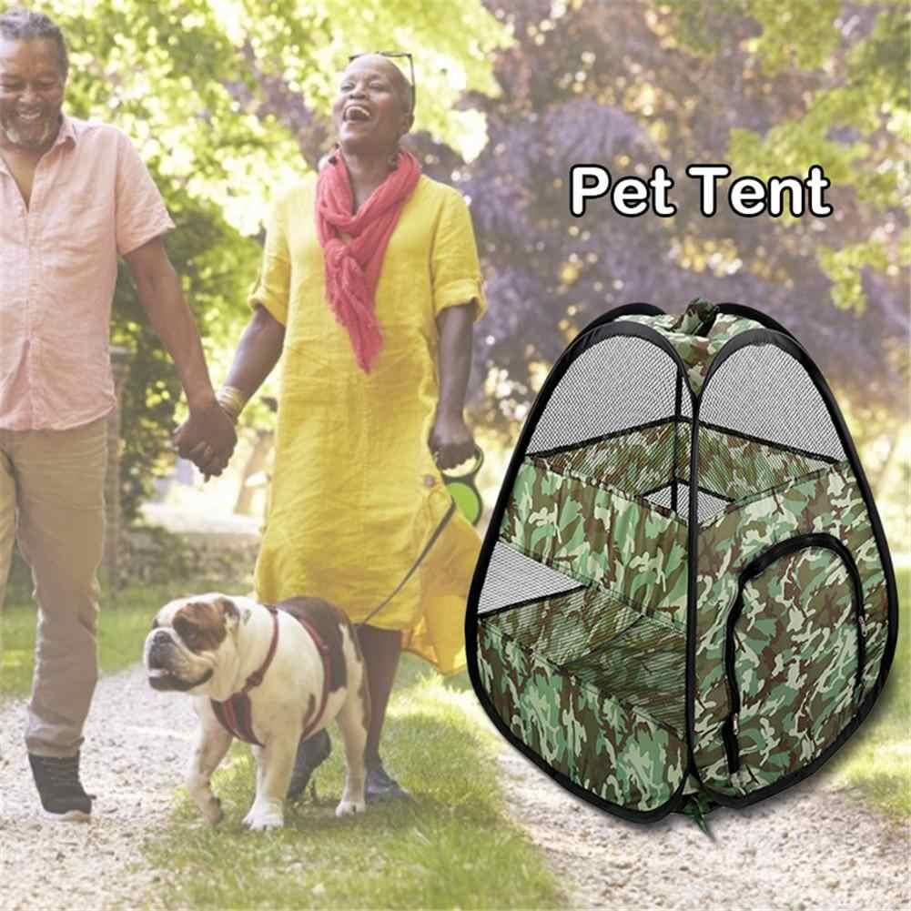 כלב בית כלב חוצות אוהל קן מתקפל אחסון לנשימה רשת לחיות מחמד חתול כלב אוהל