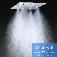 400x400 мм квадратный Большой дождь Spa Насадки для душа 304 Нержавеющаясталь зеркало площади Мисти Душ Ванна/Ванная комната код