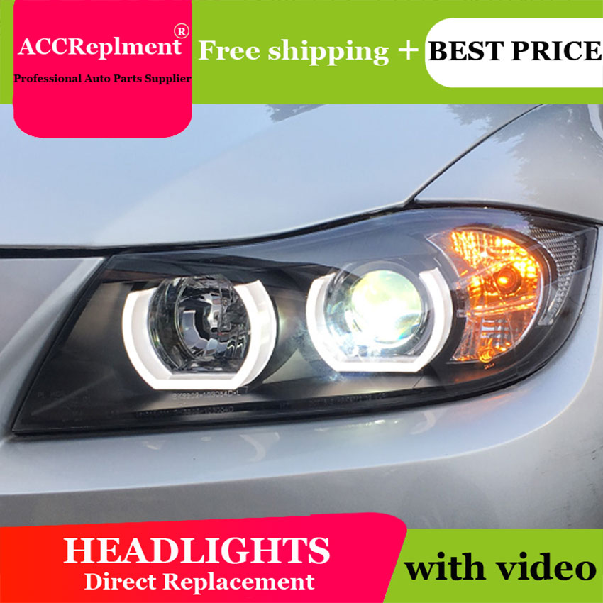 Car Styling <font><b>LED</b></font> Head Lamp <font><b>for</b></font> <font><b>BMW</b></font> <font><b>E90</b></font> <font><b>headlights</b></font> 2005-2011 <font><b>E90</b></font> <font><b>Led</b></font> <font><b>headlight</b></font> <font><b>led</b></font> drl <font><b>H7</b></font> hid Bi-Xenon Lens low beam image