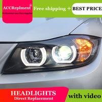 Car Styling LED Head Lamp for BMW E90 headlights 2005 2015 E90 Led headlight led drl H7 hid Bi Xenon Lens low beam