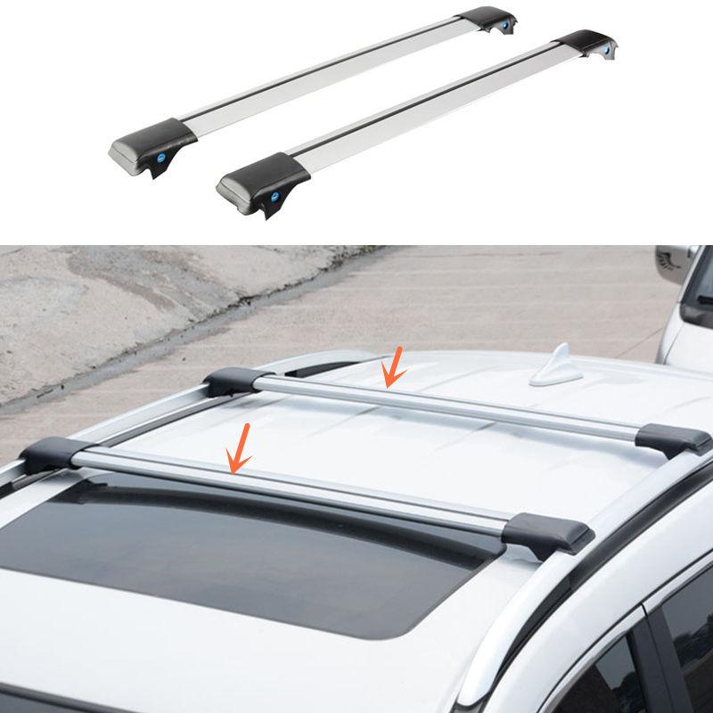 Aluminum Alloy Silvery Cross Bar Roof Cargo Luggage Rack