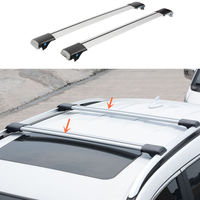 Aluminum alloy Silvery Cross Bar Roof Cargo Luggage Rack For Lexus RX270 2011-14