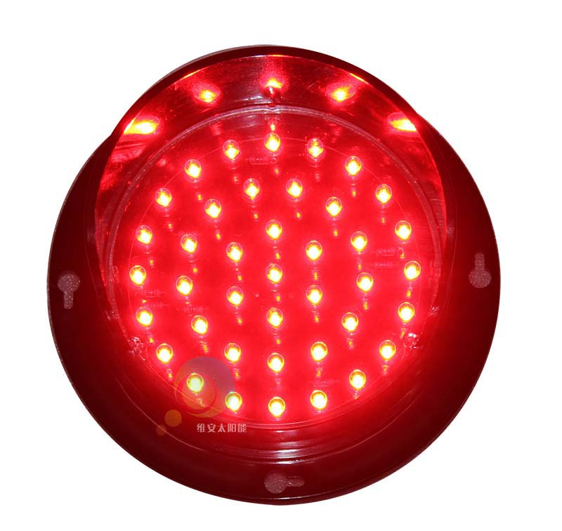 DC12V Customized 100mm   PC Housing Epistar LED Red Light Traffic Light Lamp LED Signal Module