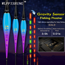 WLPFISHING Fishing Floats Gravity Sensor LED Light Change When Fish Baits Luminous Composite Nano Bobber