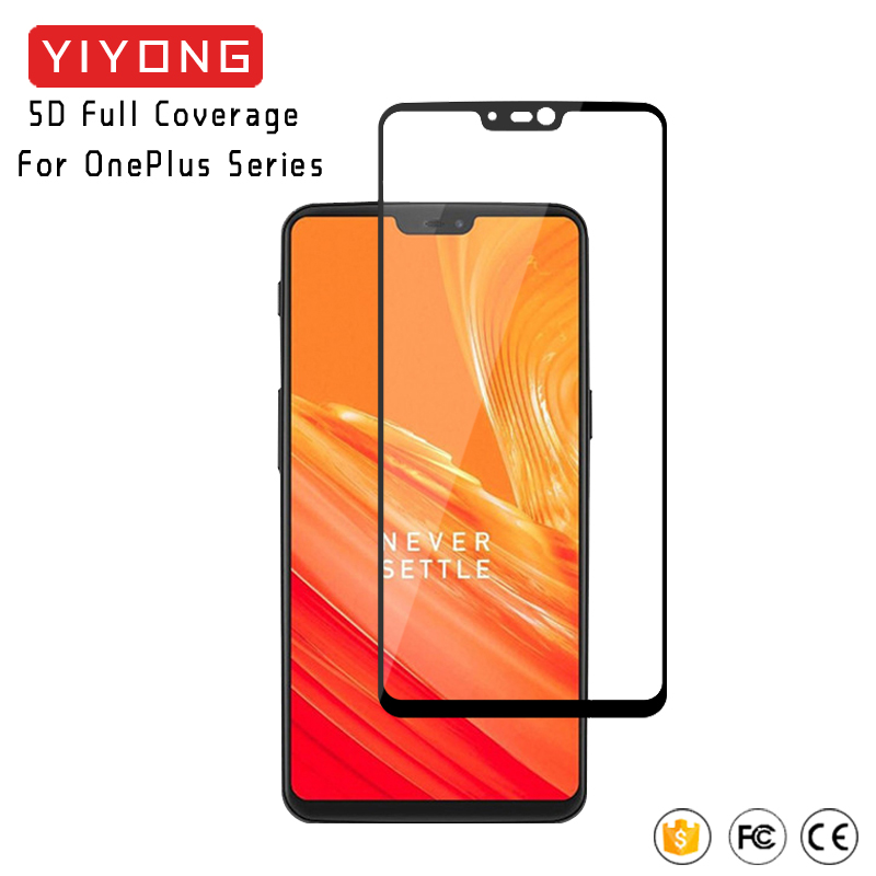 25pcs lot YIYONG 5D Full Cover Oneplus 6 5 3 3T 5T 6T 7T Tempered Glass