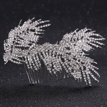 New Fashion Silver Flowers Crystal Hair Combs For Bride Wedding Hair Jewelry Accessories Women Rhinestones Hair Clips Pins FS038