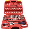 61pcs sleeve ratchet wrench Combination Batch Head Kits vehicle Toolbox Auto Repair Hand Tools KF010