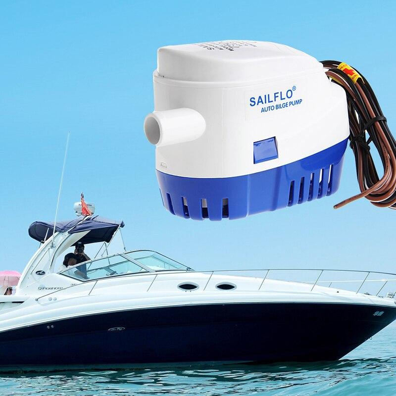 1100gph 12 v barco marinho automático submersível