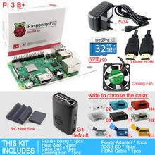 Raspberry Pi 3 Model B+Plus starter kit PI 3 board+Case Box+cooling Fan+16/32GB SD Card+Heat Sink+5V/3A Power Adapter+HDMI Cable(China)