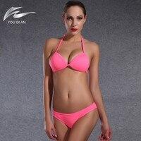 Парео бандо Бикини Европейский и американский комплект бикини купальник Push Up Bra женщины Купальники для малышек Biquinis бикини бразильский