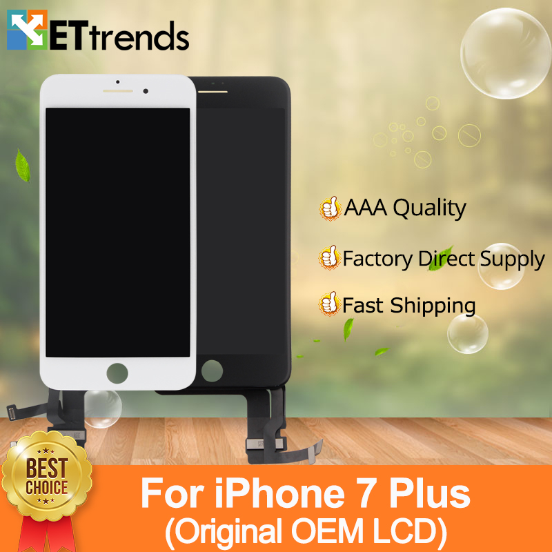 2 pcs/lot D'origine OEM LCD Affichage Pour iPhone 7 Plus LCD écran Tactile Digitizer Verre Assemblée d'écran 100% Testé DHL Livraison le bateau
