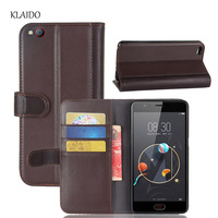 KLAIDO Genuine Cow Leather Case For ZTE Nubia M2 Lite Flip Phone Cover Wallet Card Holder