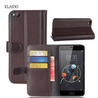 KLAIDO Genuine Cow Leather Case For ZTE Nubia M2 Lite Flip Phone Cover Wallet Card Holder