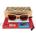 BOBO BIRD Brand Designer Wooden Oculos de sol masculino Colorful Wooden Frame Polarized Men's Sunglasses 2017 With Creative Box