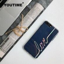 Youtime силикона корейский чехол для телефона для iPhone 7 Plus 6 6S милый дизайн прозрачные Модные крышка антидетонационных высокое качество ТПУ