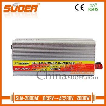 Suoer【 Modified Sine Wave Inverter 】 Power Inverter 2000W 12V 220V AC DC Inverter With Anti-reverse(SUA-2000AF)
