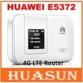 Original desbloqueado huawei e5372 e5372s-32 4g 150 100mbps lte gato 4 bolso móvel wi-fi hotspot wireless router desbloqueado originais