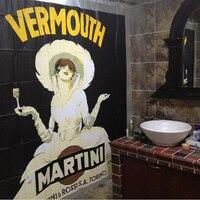 New Bathroom Curtain Retro European Style Home Decorate Beauty High Quality Waterproof EVA Fabric Bathroom Shower