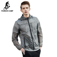 Pioneer Camp New Ultra Thin Jacket Men Brand Clothing Ultra Light Sunscreen Coat Male Top Quality