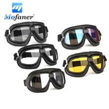 Retro Motorcycle Goggles Bike Scooter ATV Anti fog Dust Wind UV Helmet Glasses