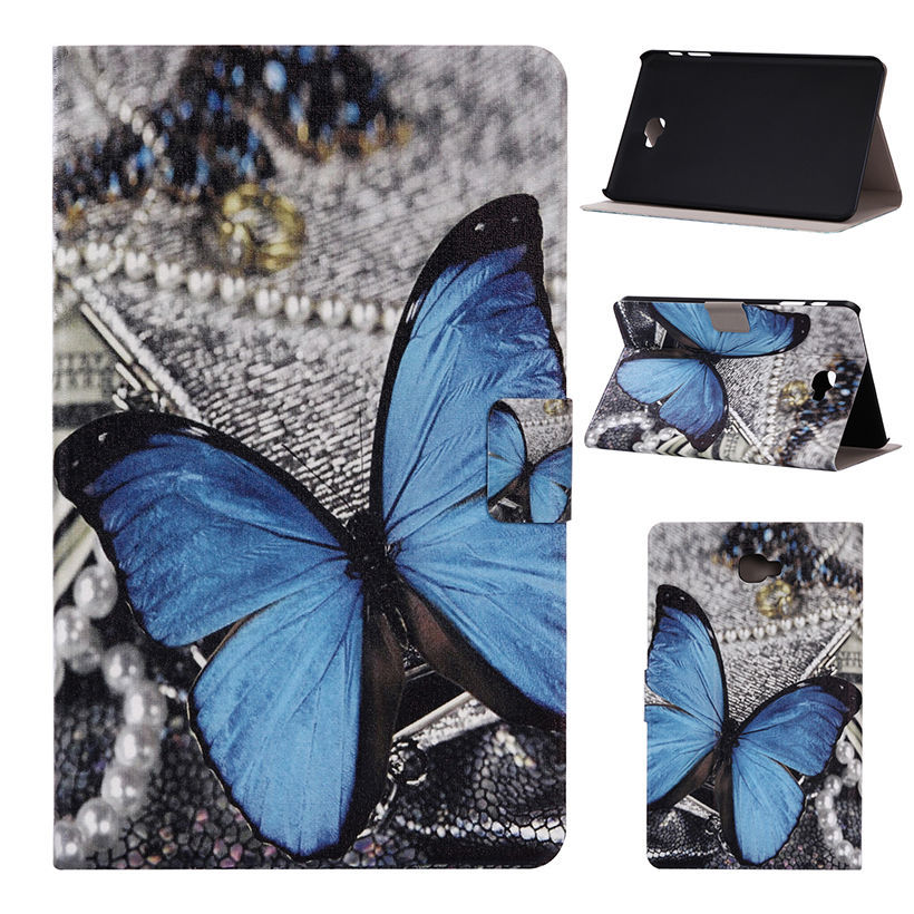 Fashion Print Leather Case For Samsung Galaxy Tab A 10.1 2016 T580N 10.1 Case Cover Flip Stand Tablet PC Shell