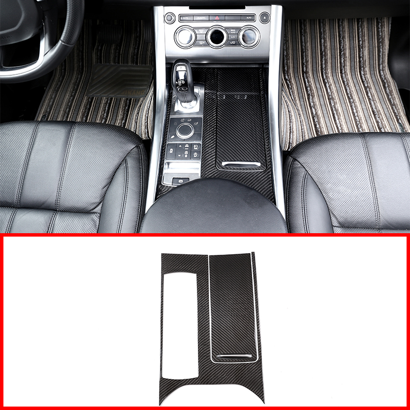 3Pcs Real Carbon Fiber Center Console Panel Cover Trim Parts For Land Rover Range Rover Sport 2014-2017 Car Accessories For LHD