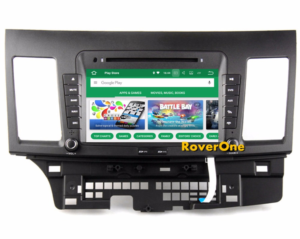 For Mitsubishi Lancer GaLant Fortis Ispira Android 8.0 Car Multimedia System Stereo DVD Radio GPS Navigation Audio Video Player