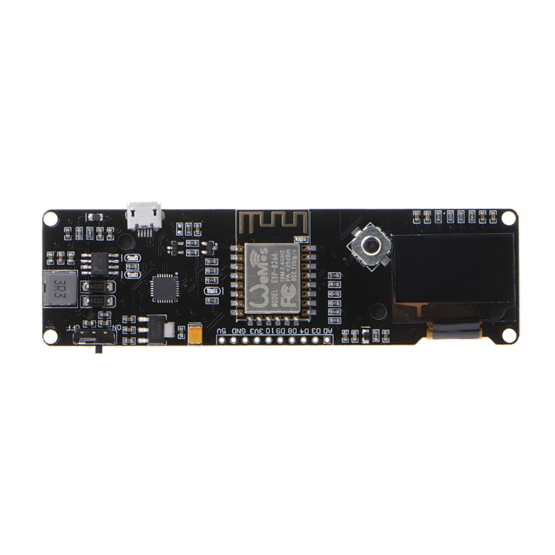 """WeMos D1 ESP-12F ESP8266 Motherboard Module 0.96/"""" With OLED Screen 18650 Battery"""