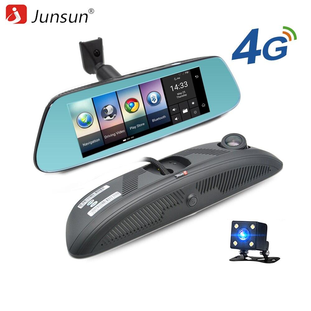 """Junsun 8 """"4 г Mirror Автомобильный видеорегистратор Камера Android 5.1 с GPS DVRs Автомобильный видеорегистратор зеркало заднего вида Камера регистраторы"""