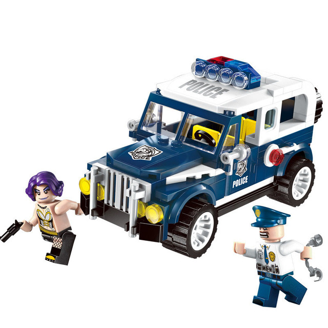 police car and 2doll