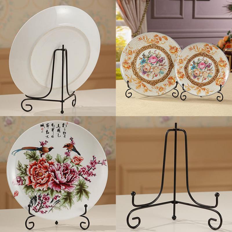 Frame Photo Pedestal Holder Home 5 Size Display Stand Dish Rack Plate Bowl HO