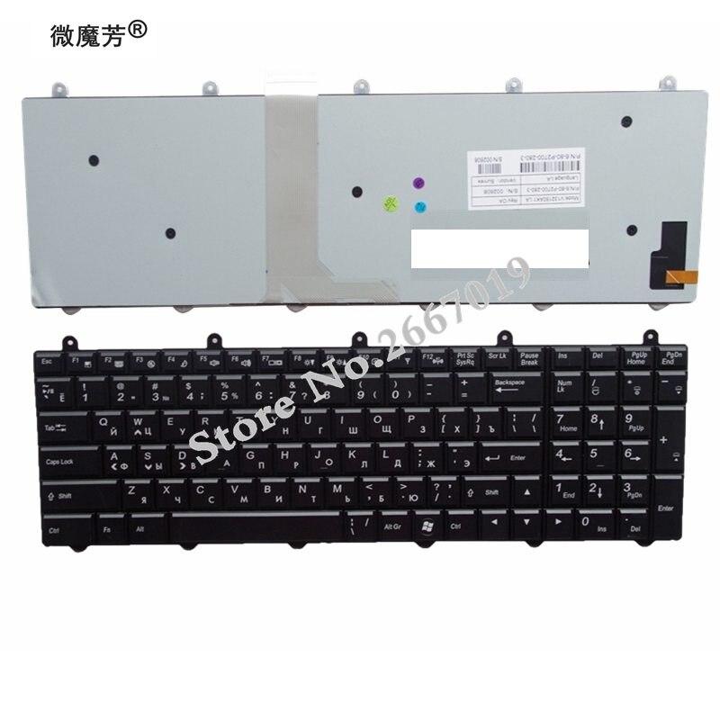 RU rétro-éclairage noir nouveau pour Hasee K680 K780 K680C K680S K770E K780E K780G pour TongFang X58F clavier d'ordinateur portable russe