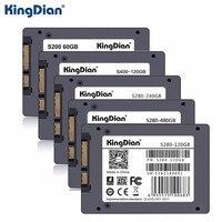 KingDian 2.5 дюймов SSD SATAIII 60 ГБ 120 ГБ 240 ГБ 480 ГБ SATA 3 Порты и разъёмы жесткий диск высокая скорость mSATA для ноутбука Тетрадь