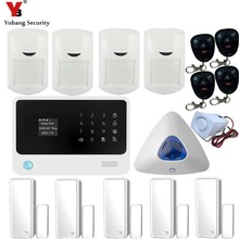 YobangSecurity Residence Alarm WIFI GSM Safety System Android IOS APP Management Door 433mhz Door Detector PIR Detector Movement Sensor